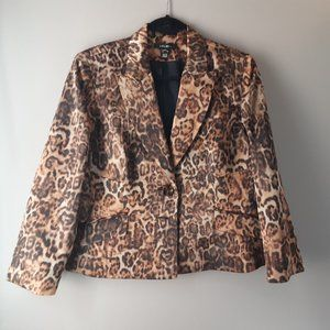 Louben Leopard Print Jacket | Made in Canada | 10